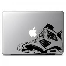 Air Jordan No 6 Retro Black White Apple Macbook Air Pro 13 15 17 Vinyl Decal Sticker Dreamy Jumpers