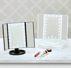 tri fold led makeup mirror with
