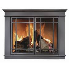 hamilton fireplace glass door black