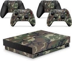 Amazon Com Gizmoz N Gadgetz Xbox One X Camouflage Console Skin Decal Sticker 2 Controller Skins Electronics