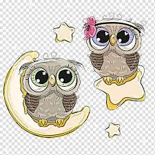 glasses cartoon owl cute owl yellow