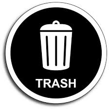 Trash Black Garbage Waste Decal Sticker Dumpster Label Rubbish Waste Recycle Can For Sale Online Ebay