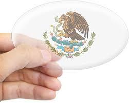 Amazon Com Cafepress Mexico Mexican Eagle Oval Sticker Oval Bumper Sticker Euro Oval Car Decal Home Kitchen
