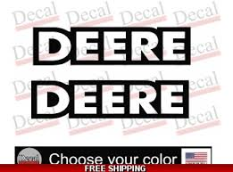Deere Deere Logos Decal Vinyl Decal Equipment Stickers Set Of 2