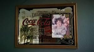 Vintage XL Coca Cola mirror (89x63 cm.)-Hilda Clark-ca. - Catawiki