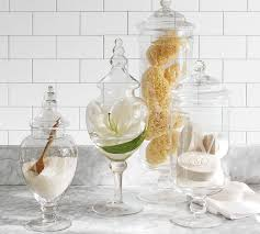 classic glass apothecary jars pottery