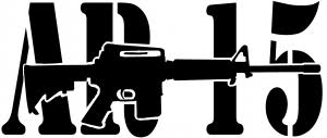 Ar 15 Military Rifle With Text Car Or Truck Window Decal Sticker Rad Dezigns