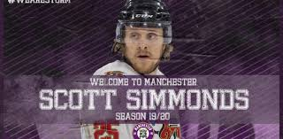 BREAKING NEWS: WELCOME TO MANCHESTER, SCOTT SIMMONDS! – Manchester Storm