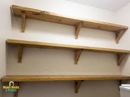 diy wood shelf brackets for open