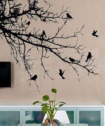 Vinyl Wall Decal Sticker Birds Tree Branch 1002 Wall Painting Vinyl Wall Decals Wall Decals