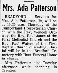 Obituary for Ada Patterson (Aged 72) - Newspapers.com