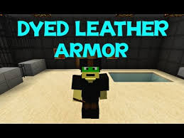 minecraft tutorial how to dye leather