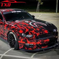 Big Discount 61376 New Arrival Glossy Black Red Grey Camo Vinyl For Car Wrap Digital Camo Car Sticker Motorcycle Bike Vehicle Covering Cicig Co