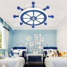 Cute Blue White Anchor Nautical Kids Room Ceiling Lighting