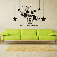 Wall Decal Bear Star Sky Spirit Say No Windows Inscription Letter M551 Ebay