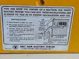 Fencing Hol Dem Electric Fence Controller
