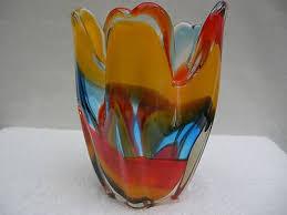 vintage murano sommerso art glass vase