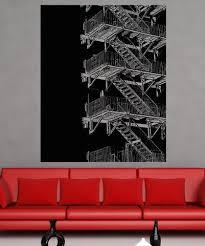 Vinyl Wall Decal Sticker Fire Escape Stairs 5231 Stickerbrand