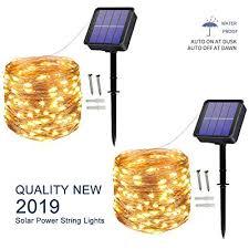 solar string lights 100 led 10m 33ft 8