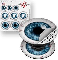 Decal Style Vinyl Skin Wrap 3 Pack For Popsockets Eyeball Blue Popsocket Not Included By Wraptorskinz Walmart Com Walmart Com