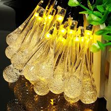 Led Christmas String Lights 1m 2m 3m 4m 5m 10m Waterproof Crystal Bubble Water Drop Home Garden Fence Bistro Party Holiday Light Led Christmas String Lights String Lightsholiday Lights Aliexpress