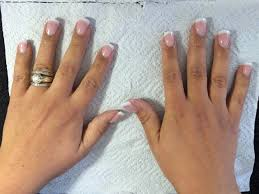 natural tips with acrylic french