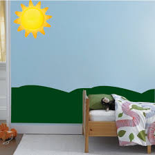 Sun Wall Decal Mural Kids Room Wall Sticker Bedroom Apartment Decor Re American Wall Designs