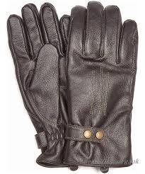 barbour eden leather gloves black