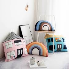 Ins 3d Cartoon House Rainbow Shaped Cushion Soft Plush Pillow Home Sofa Car Seat Bedroom Children Toy Room Decoration Buy At The Price Of 19 79 In Aliexpress Com Imall Com