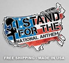 I Stand For The National Anthem 6in Decal Twisted Threadz