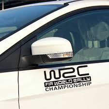 New Car Styling Fashion Creative Auto Decorative Decals Wrc Fia World Rally Championship Car Reflective Vinyl Car Body Decals Decal Car Stickers Sticker Treestickers For Car Windows Aliexpress