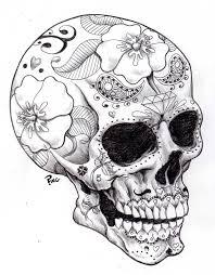Day Of The Dead Skull Sugar Skull Designs Skull Dead