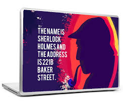 Buy Laptop Skins Decals Online Sherlock Holmes Quote Name And Address Laptop Skin Postergully