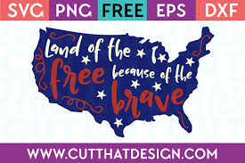 svg files land of the because of the brave quote