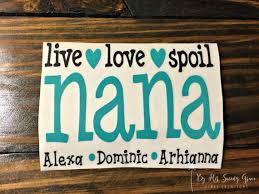 Live Love Spoil Grandma Yeti Decal Car Decal Nana Etsy