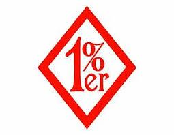 1 Er One Percenter Vinyl Decal Red 4x5 Bikers Biking Outlaw Biker Clubs Ebay