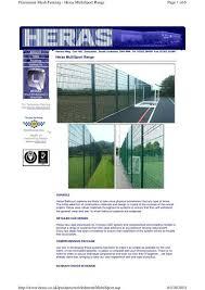 Page 1 Of 6 Permanent Mesh Fencing Heras Multisport Range 01