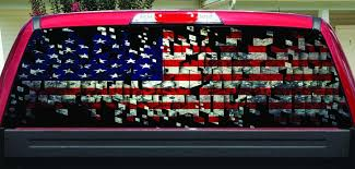 Shattered American Flag Rear Window Decal Let S Print Big