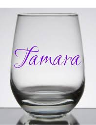 Amazon Com Name Decal Glass Not Included Customize The Color Name And Size Perfect For Windows Wine Glasses Flasks Yeti Cups Bridesmaids Gift Water Bottle Etc Metallic And Glitter Vinyl Handmade