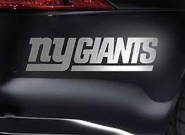 New York Giants Vinyl Decal Fan Gear Nfl Football Car Window Sticker Cornhol New