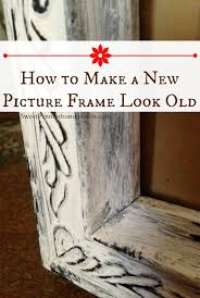 a distressed frame is so easy to make