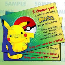 The Childrens Zone Digi Designs Invitaciones De Pokemon