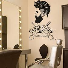 Barber Shop Window Decal Hipster Man Wall Sticker Hair Salon Scissors Murals Shave And Haircut Logo Window Mural Wall Graphics Vinyl Wall Lettering Decals From Gor2don 37 27 Dhgate Com