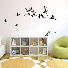 Birds On The Black Tree Branch Wall Decal Sticker Living Room Bedroom Wall Art Mural Decor Poster Home Art Wall Applique Sticker Wall Art Stickers Wall Art Stickers Quotes From Magicforwall 3 69