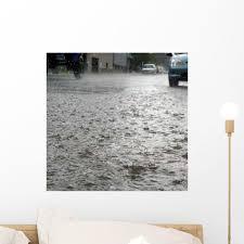 Heavy Rain Street Wall Decal Wallmonkeys Com