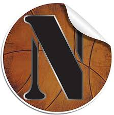 Amazon Com Wall Sticker Basketball Letter Decals Vinyl Stickers Nursery Decorations Alphabet Initial Name Letters Decal Childrens Room Decor Baby Boys Girls Bedroom Child Personalized Sports Small Letter N Home Kitchen