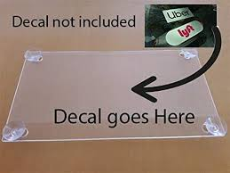 Amazon Com Rideshare Acrylic Clear Holder Sign Include 4 Suction Cups Removable Sign Clothing
