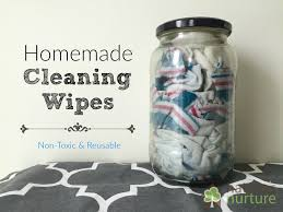 easy homemade cleaning wipes non