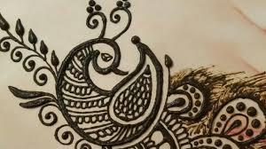 peacock mehndi design drawing