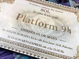 20 Invitaciones Cumpleanos Quince Hogwarts Harry Potter 480 00